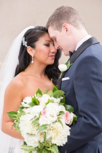 Traditional Elegant White Bridal Bouquet Chicago