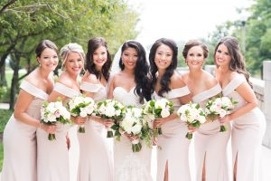 Traditional Elegant White Bridal Bouquet and Bridesmaids Bouquets Chicago