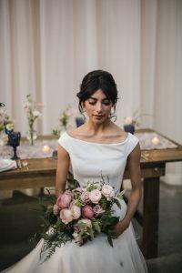 Lush Rustic Modern Bridal Bouquet Fairlie Chicago