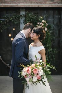 Lush Rustic Modern Bridal Bouquet and Wedding Arch Fairlie Chicago