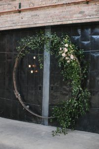 Rustic and Modern Wedding Ceremony Arch Fairlie Chicago