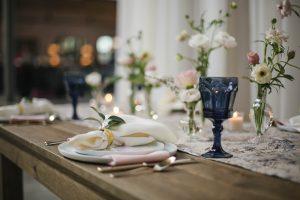 Rustic and Modern Wedding Reception Tablescape Flower Centerpiece Fairlie Chicago