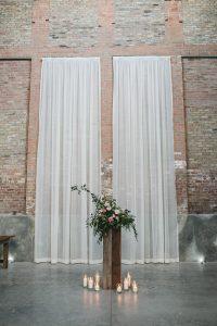 Rustic and Modern Wedding Reception Tall Flower Arrangement Fairlie Chicago