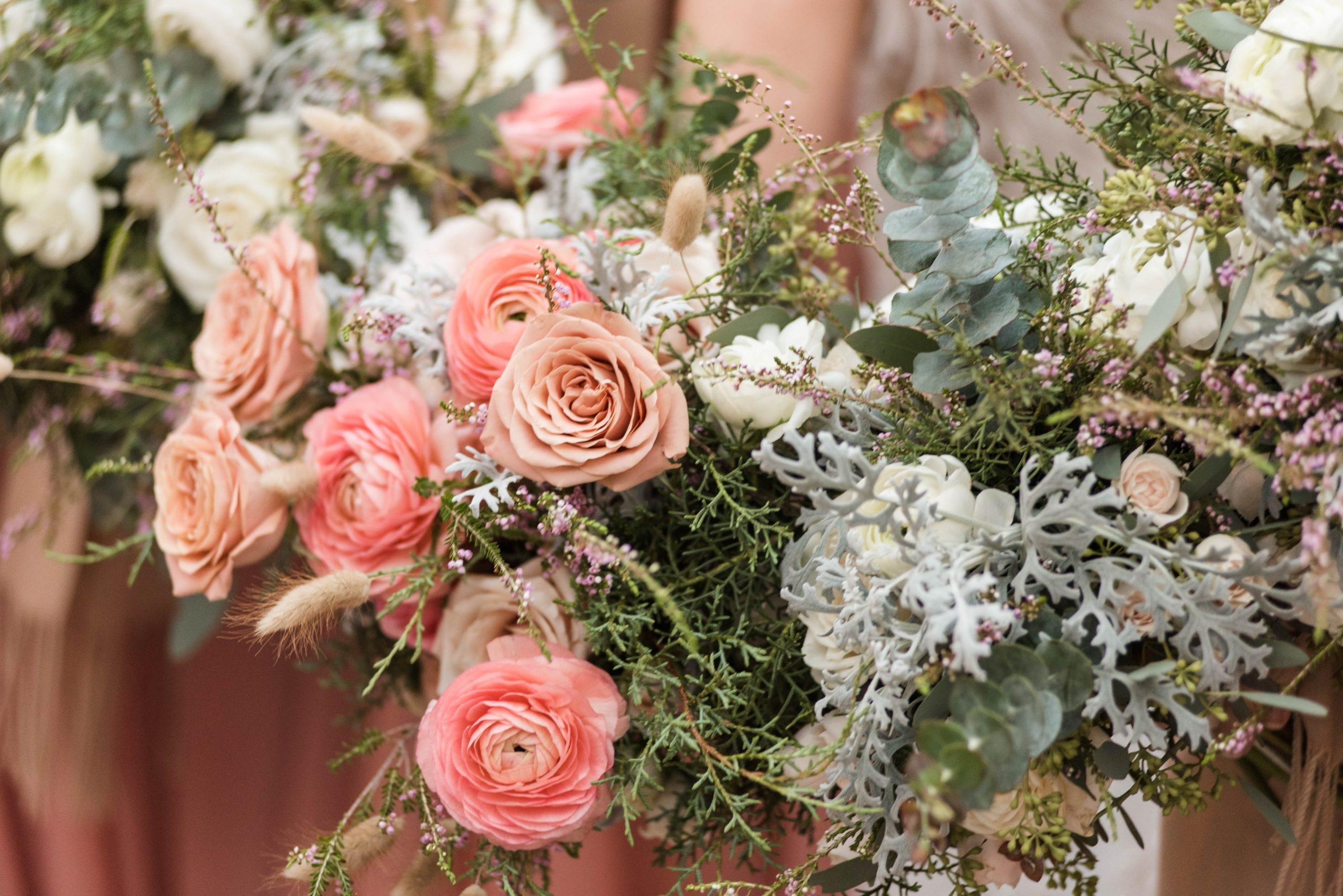 Romantic Winter Wedding Flower Bouquets