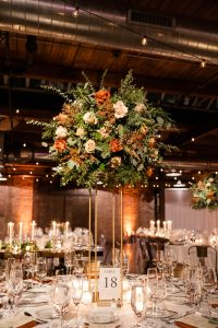 Romantic Winter Wedding Tall Centerpiece
