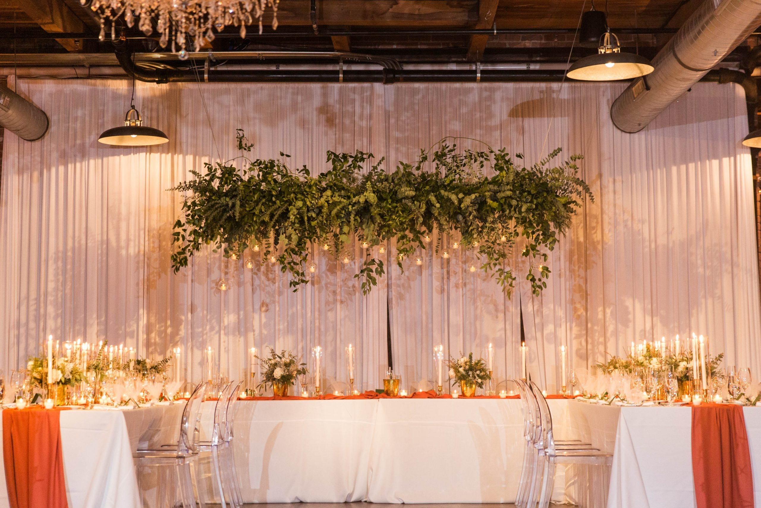 Romantic Winter Wedding Greenery Canopy