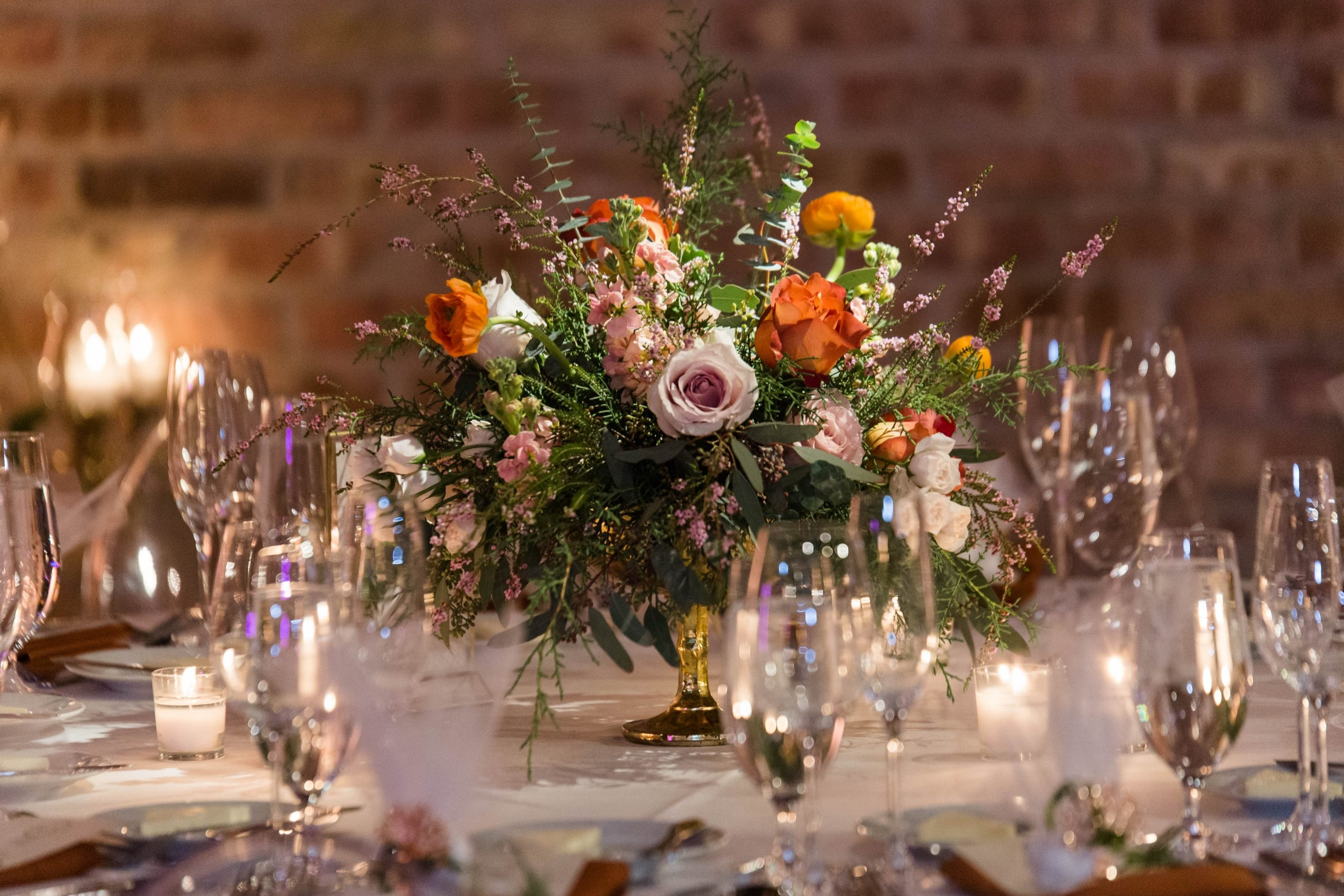 Romantic Winter Wedding Centerpiece