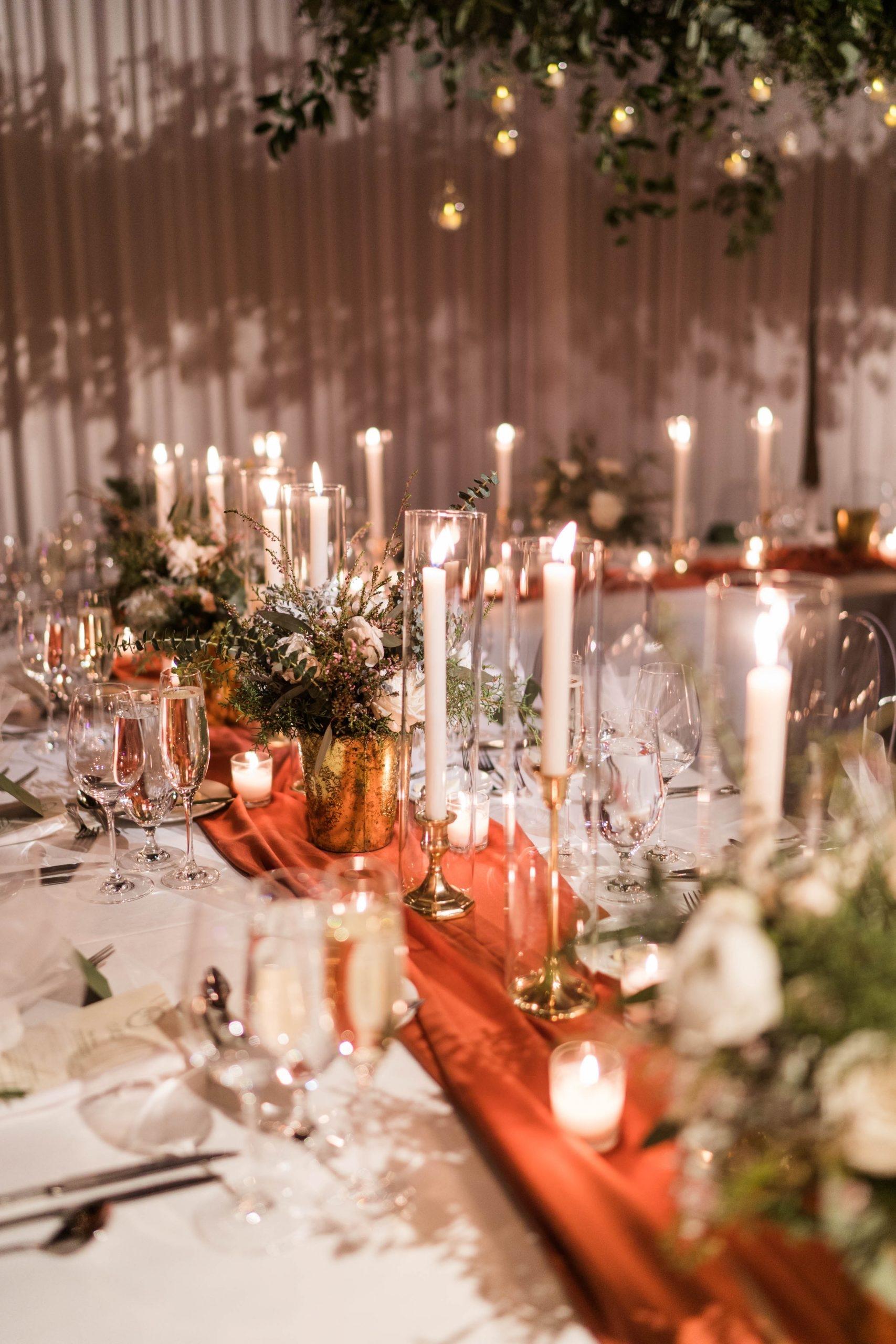 Romantic Winter Wedding Table Runner