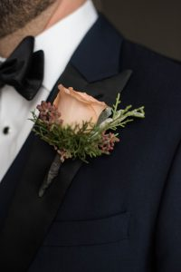 Romantic Winter Wedding Boutonniere