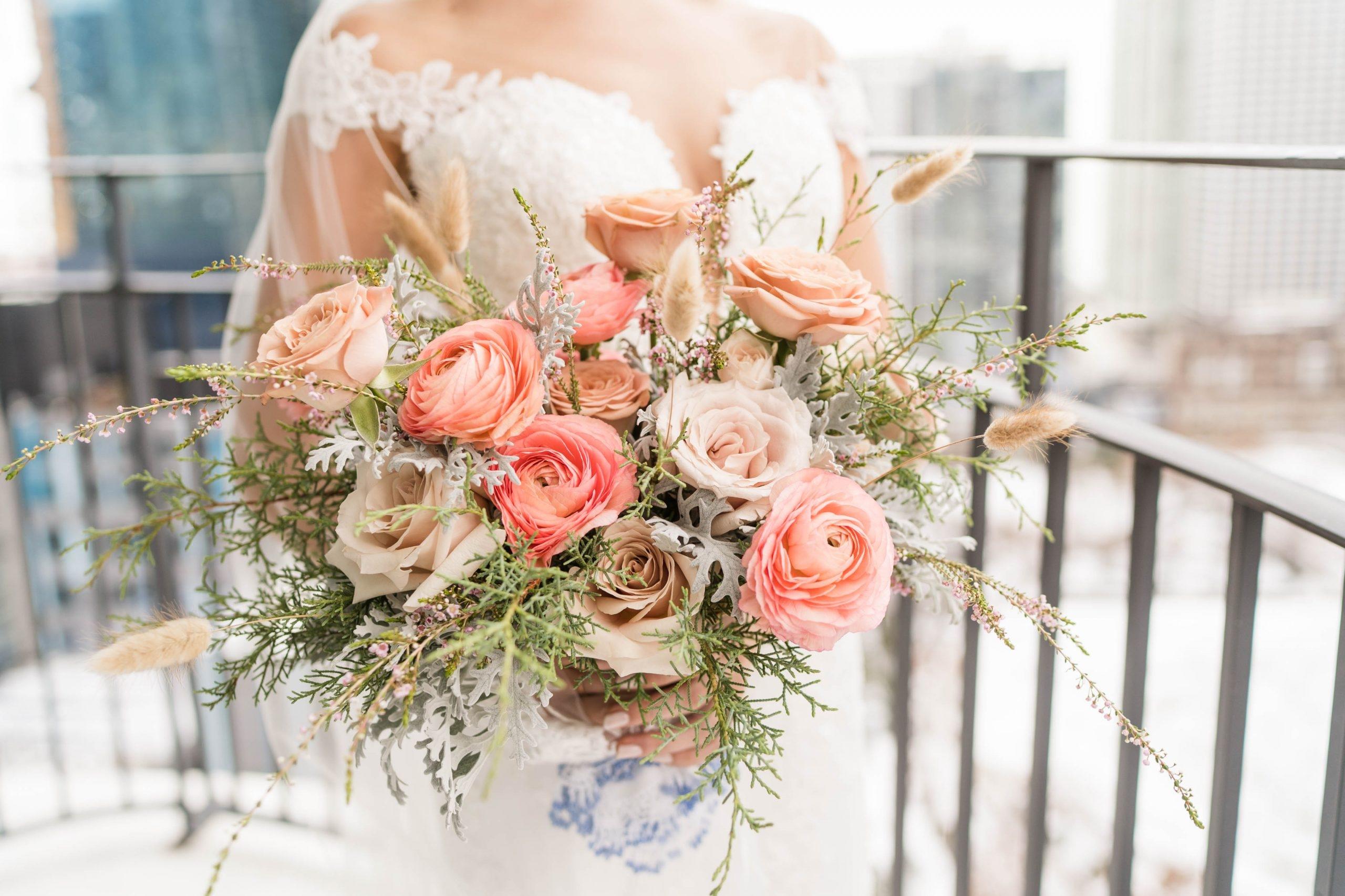 Romantic Winter Wedding Bridal Bouquet