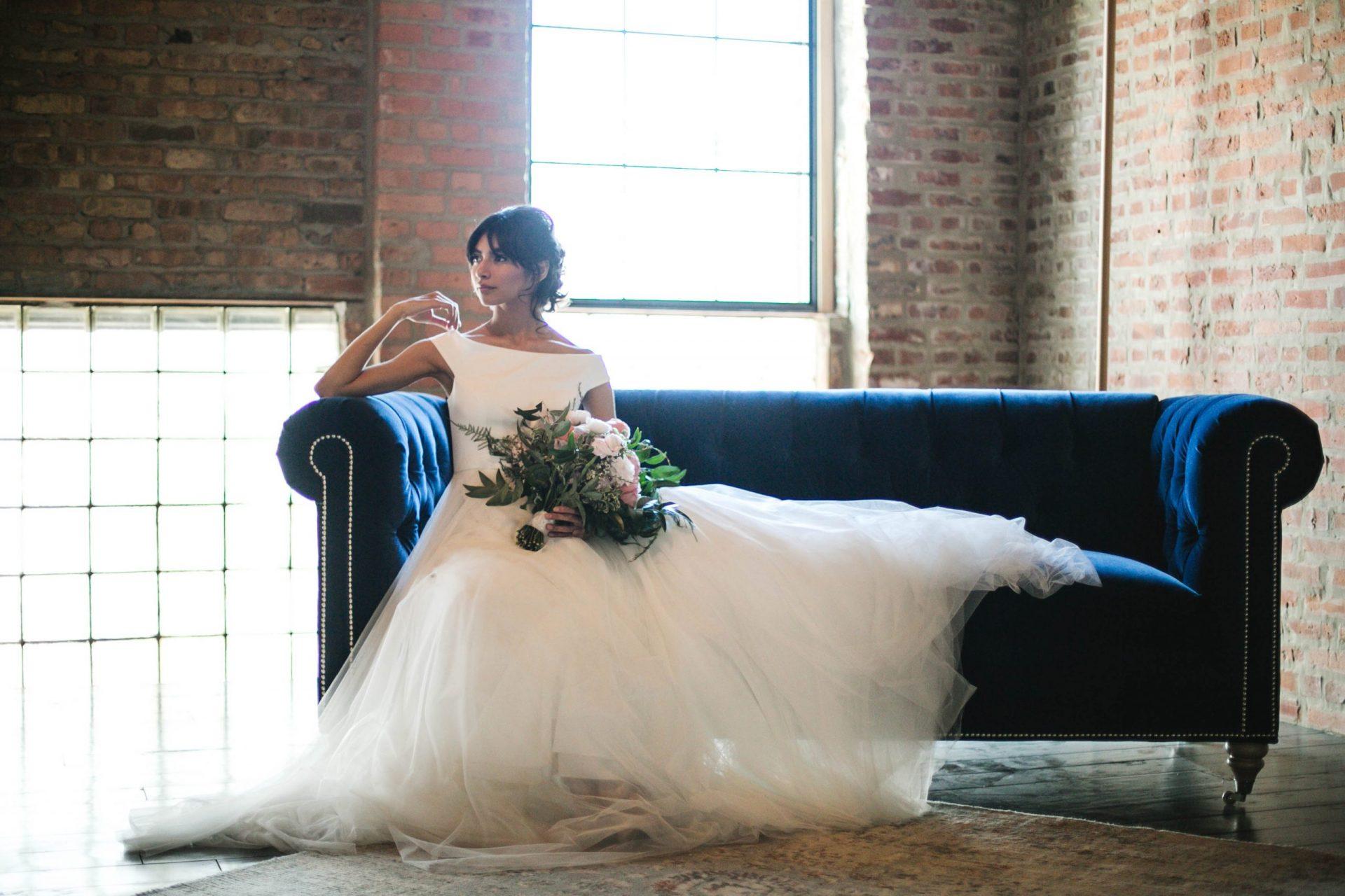 Lush Rustic Bridal Bouquet Fairlie Chicago