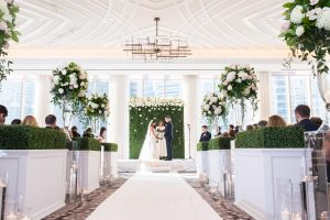 Traditional Elegant Wedding Ceremony Arch Flowers Londonhouse Chicago