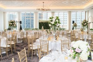 Traditional Elegant Reception Wedding Flowers and Centerpiece Londonhouse Chicago