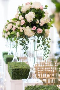 Traditional Elegant Wedding Ceremony Tall Aisle Flowers Londonhouse Chicago