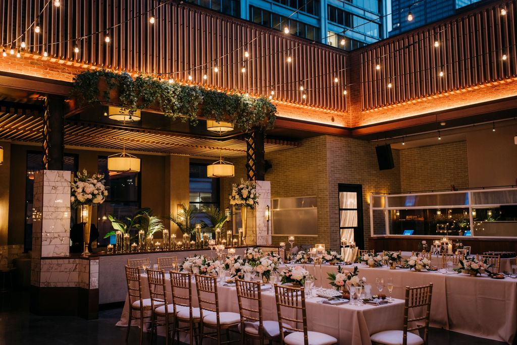 Microwedding reception decorations by Ashland Addison Florist