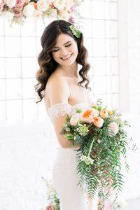 Traditional Elegant Bridal Bouquet Chicago LGBTQ+