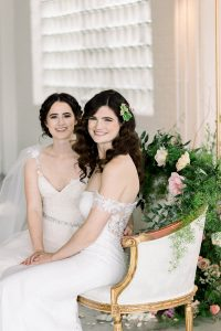 Romantic Elegant LGBTQ+ Wedding Reception Sweetheart Table Flowers Morgan Manufacturing Chicago