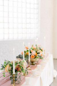 Traditional Elegant Romantic LGBTQ+ Wedding Reception Centerpieces Flowers Chicago