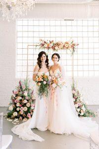 LGBTQ+ Traditional and Elegant Wedding Ceremony Arch Chicago